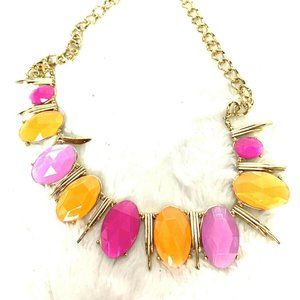 Other - Orange Pink Oval Statement Piece Necklace Career